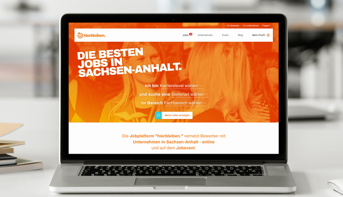 MODX-Website hierbleiben-jobs.de